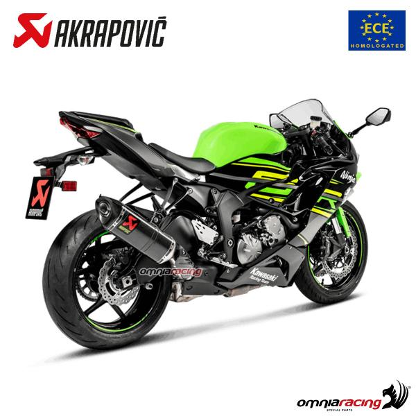 Akrapovic Slip On Line Exhaust System Homologated Carbon Fibre For