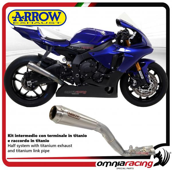 Details about Arrow middle kit Racing exhaust Pro-Race titanium Yamaha YZF  R1/ R1M 2017>