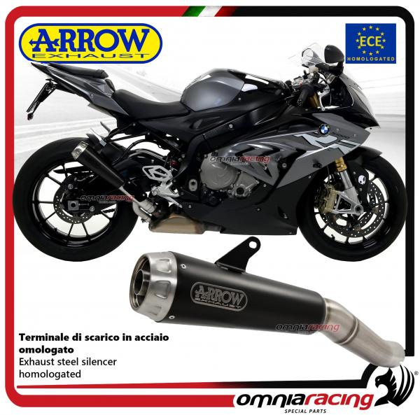 Arrow Pro Race Exhaust Slipon Steel Black Nichrom Silencer