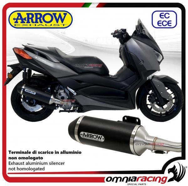 Arrow exhaust Urban aluminium black silencer homologated+catalytic link  pipe Yamaha Xmax 300 2017>