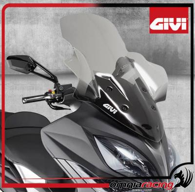 GIVI - Transparent Spoiler Wind Screen H.85.5 x L.66 cm Kymco Xciting 400i 2013 13>