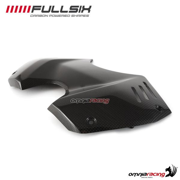 Tank cover street Fullsix carbon fiber with glossy finish for Ducati Panigale V4/S 2018>
