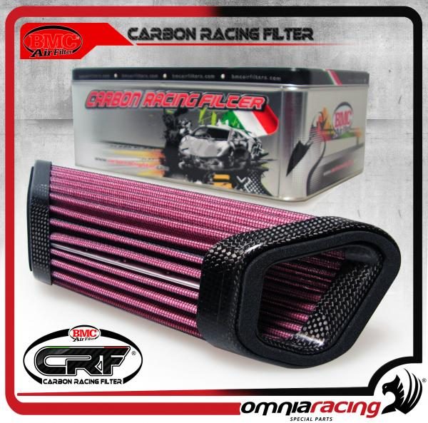 BMC Carbon Racing Filter - Filtro Aria con Cornice in Carbonio per MV Agusta F3 / Brutale 675