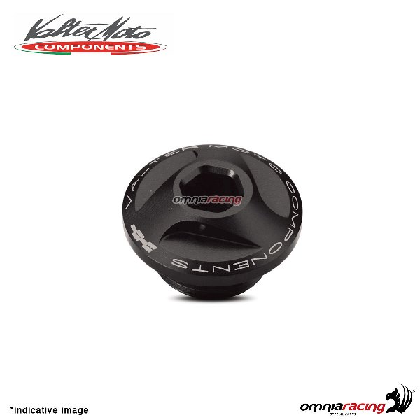 Valtermoto oil engine cap in black aluminum for Honda Hornet 600 1998>2013
