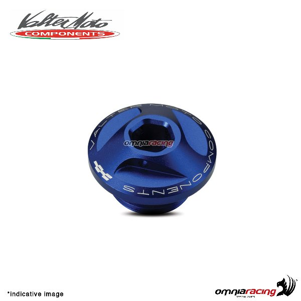 Valtermoto oil engine cap in blue aluminum for Honda Hornet 600 1998>2013