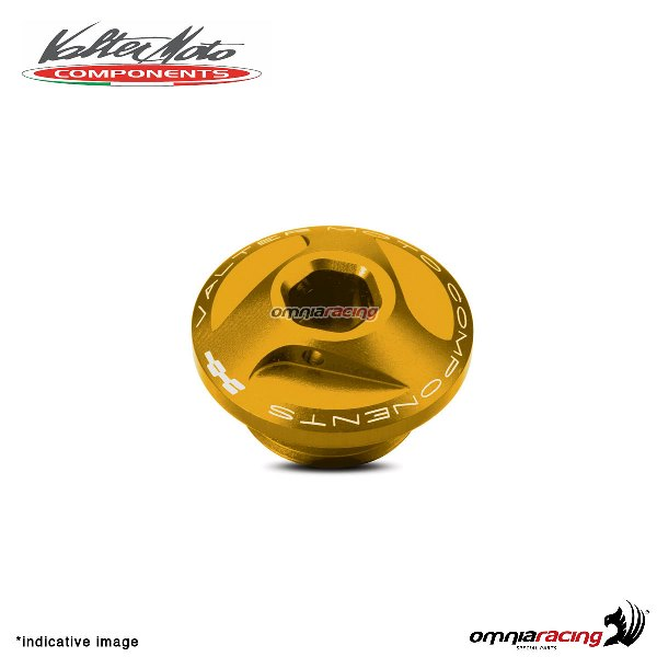 Valtermoto oil engine cap in gold aluminum for Honda Hornet 600 1998>2013