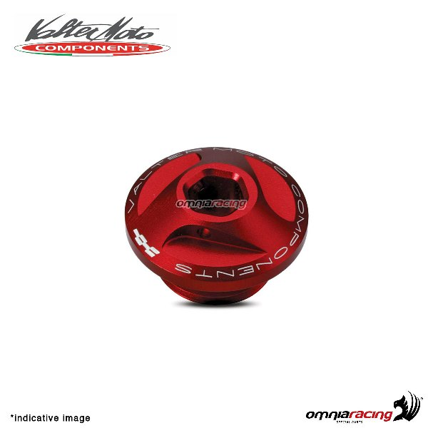 Valtermoto oil engine cap in red aluminum for Honda Hornet 600 1998>2013