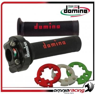 Comando gas rapido XM2 Domino con manopole bicolore super soft racing in blister