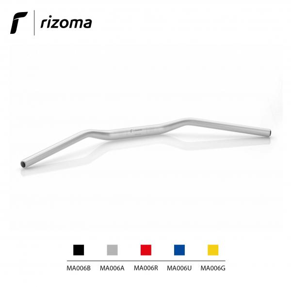 Rizoma MA006A - Tapered handlebar diameter 22 mm / Height 30 mm universal handlebar aluminium color