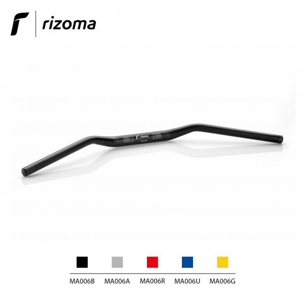 Rizoma MA006B - Tapered handlebar diameter 22 mm / Height 30 mm universal handlebar black color