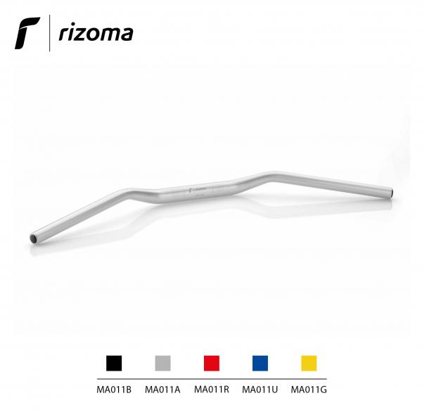 Rizoma MA011A - Tapered handlebar diameter 22 mm / Height 15 mm universal aluminium color