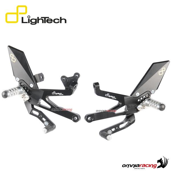 Lightech adjustable rearsets fixed footpeg standard/reverse shifting for Ducati Panigale V4 2018>