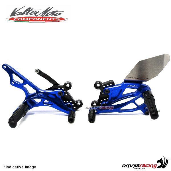 Adjustable rearsets Valtermoto Type 2.5 blue for Honda Hornet 600 2007>2013