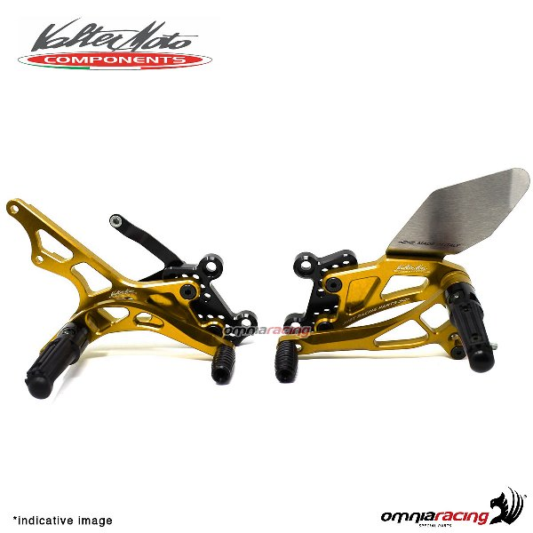 Adjustable rearsets Valtermoto Type 2.5 gold for Honda Hornet 600 2007>2013