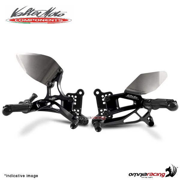 Adjustable rearsets Valtermoto Type 2.5 black for Honda Hornet 600 2007>2013