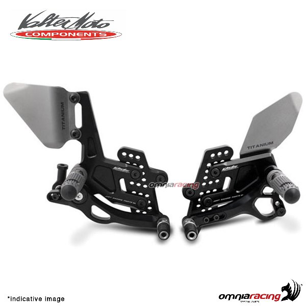 Adjustable rearsets Valtermoto Type 3.5 black for Honda Hornet 600 2007>2013