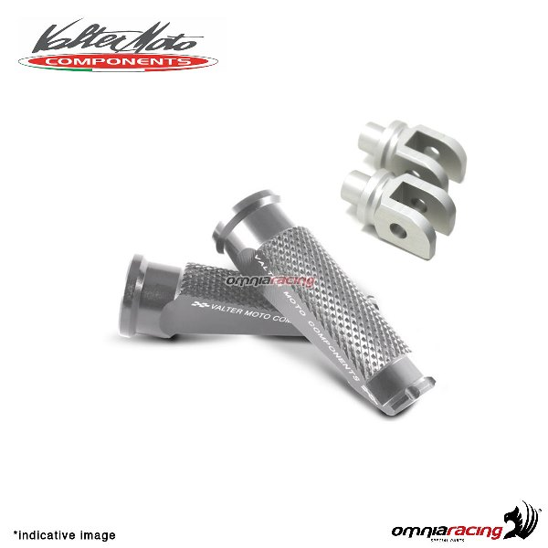 Valtermoto silver footpegs + adapters rider for Honda Hornet 600 2007>2013