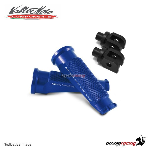 Valtermoto blue footpegs + black adapters rider for Honda Hornet 600 2007>2013