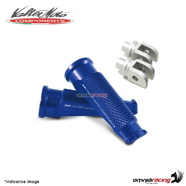 Valtermoto blue footpegs + adapters rider for Honda Hornet 600 2007>2013