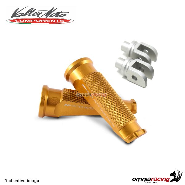 Valtermoto gold footpegs + adapters rider for Honda Hornet 600 2007>2013