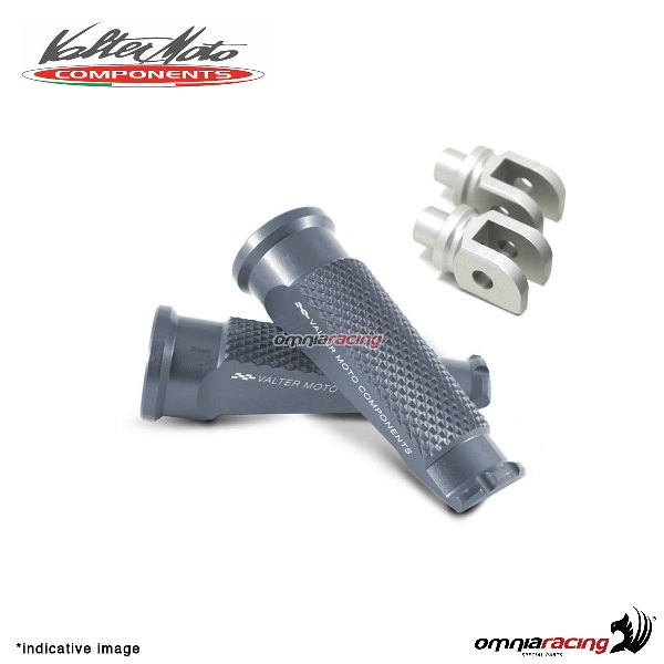 Valtermoto titanium footpegs + adapters rider for Honda Hornet 600 2007>2013