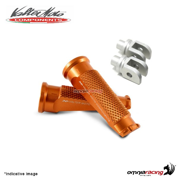 Valtermoto orange footpegs + adapters rider for Honda Hornet 600 2007>2013