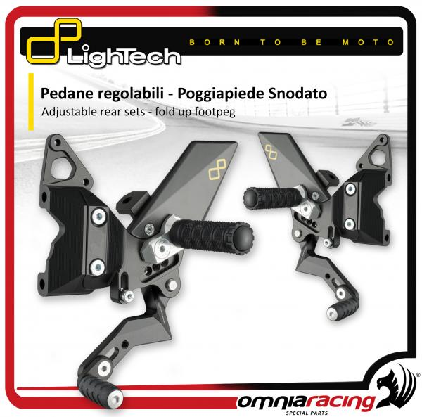 Lightech Adjustable Rear Sets fold up footpeg Reverse Shifting for DUCATI Panigale 899 1199 /R 12>14