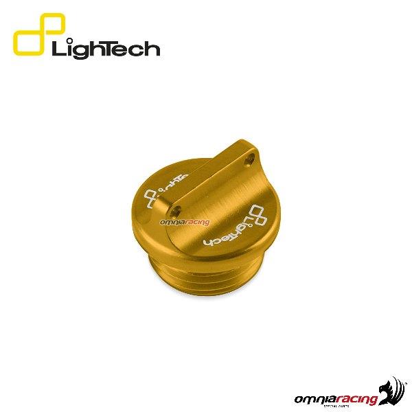 Oil filler cap Lightech ergal made gold for Kawasaki ZX6R/636 2005>2018