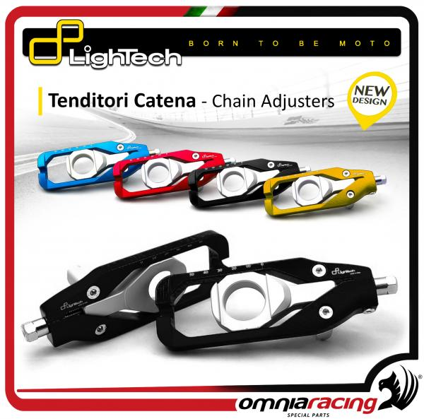 Lightech Tenditori Catena Colore Nero per HONDA CBR 600 RR 2007 > 2015