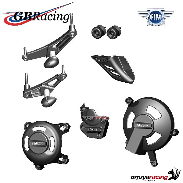 Complete engine/frame/chain protection set race use GBRacing for Triumph Daytona 675 2006>2010
