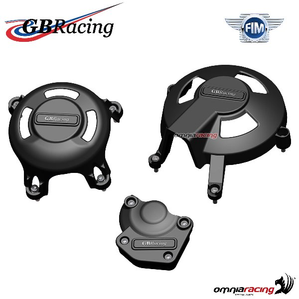 Complete engine crankcase cover protection set race use GBRacing for Triumph Daytona 675 2006>2010