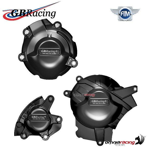 Complete engine crankcase cover protection set GBRacing for Suzuki  GSXR1000/R 2017>