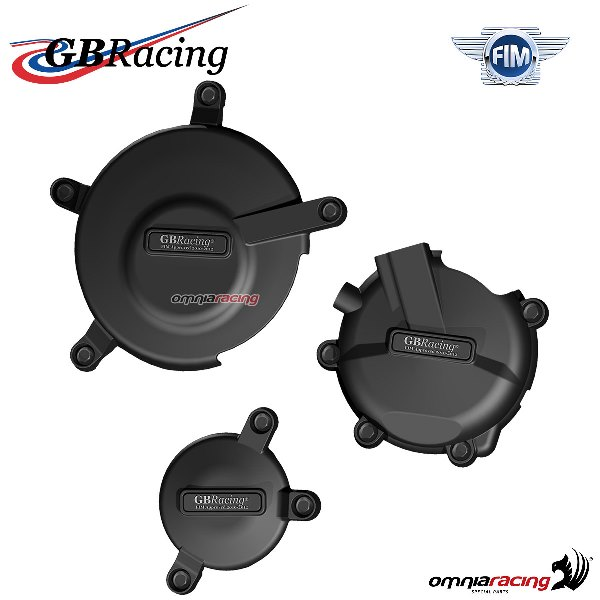 Complete engine crankcase cover protection set GBRacing for Suzuki GSXR600 2006>2016