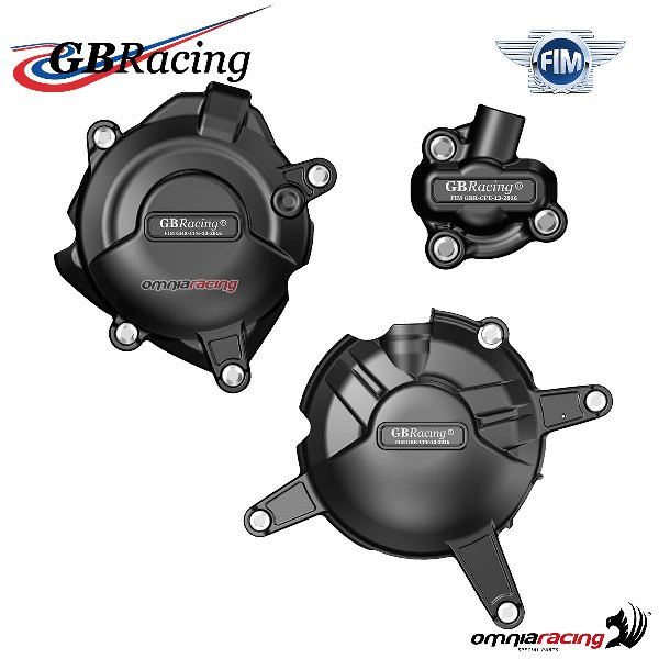 Set completo protezione carter motore GBRacing per Yamaha YZF R3 2015>