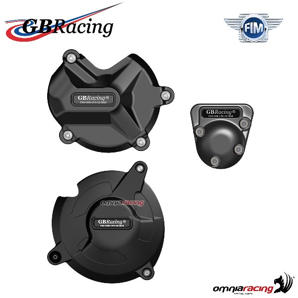 Complete engine crankcase cover protection set GBRacing for BMW S1000XR 2015>