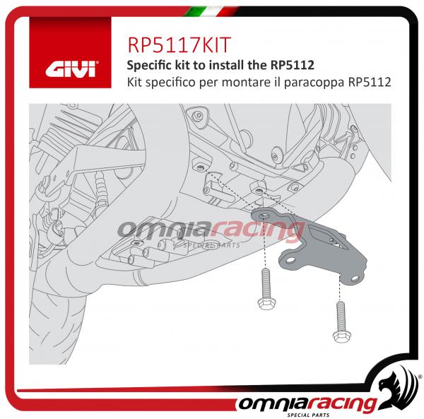 GIVI Kit specifico per montare il paracoppa RP5112 per BMW R 1200 GS / RS 2013>2016