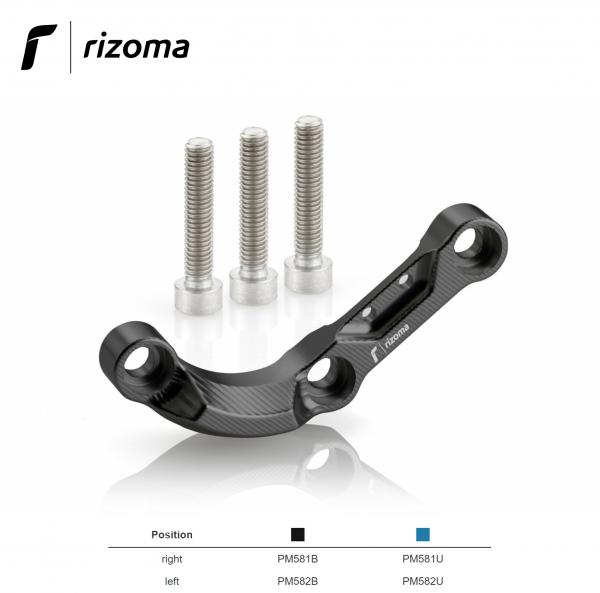 "Rizoma ""Shape"" black - right engine guard / protection for BMW S1000XR 2015>"