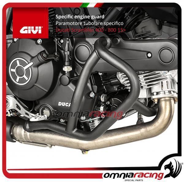 Givi Paramotore Protezioni Motore Tubolare Inox 25mm Nero Ducati