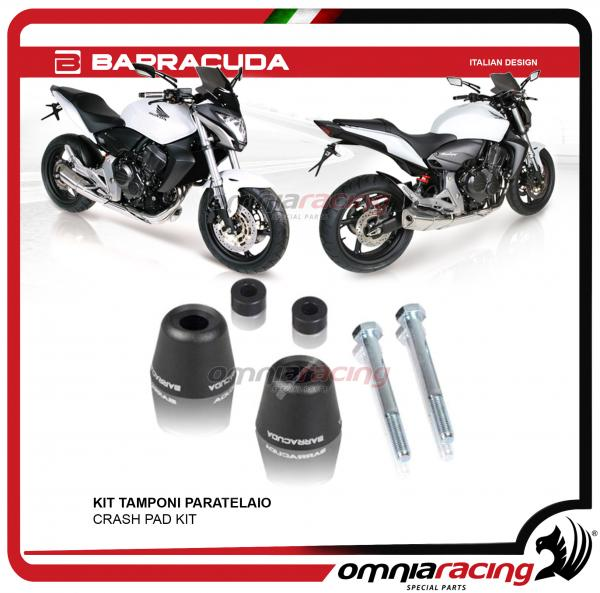 Barracuda coppia kit tamponi paratelaio per Honda Hornet 600 2007>2013