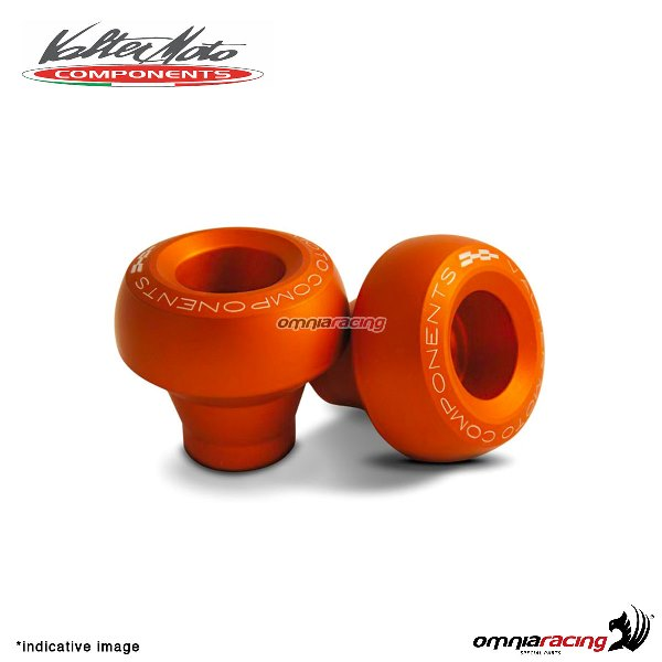 Valtermoto STREET orange frame protectors + adapters kit for Honda Hornet 600 2007>2013