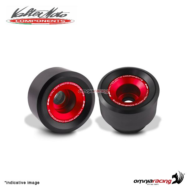 Valtermoto TRACK red frame protectors + adapters kit for Honda Hornet 600 2007>2013