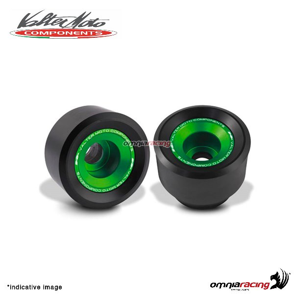 Valtermoto TRACK green frame protectors + adapters kit for Suzuki GSXR600 2011>2016