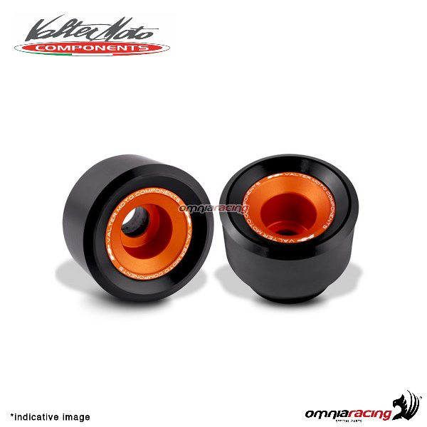 Valtermoto TRACK orange frame protectors + adapters kit for Honda Hornet 600 2007>2013
