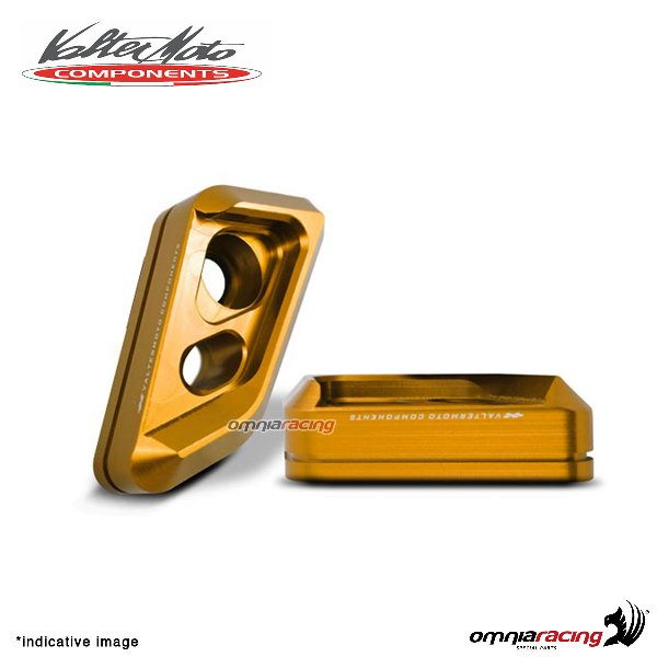 Valtermoto frame gold protectors VISUAL + adapters kit for Honda Hornet 600 2010>2013