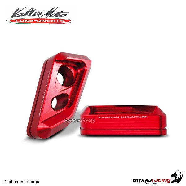 Valtermoto frame red protectors VISUAL + adapters kit for Honda Hornet 600 2010>2013