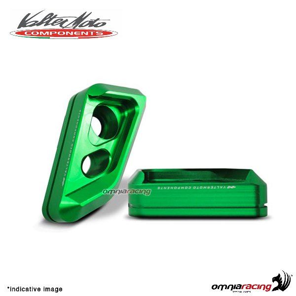 Valtermoto frame green protectors VISUAL + adapters kit for Honda Hornet 600 2010>2013