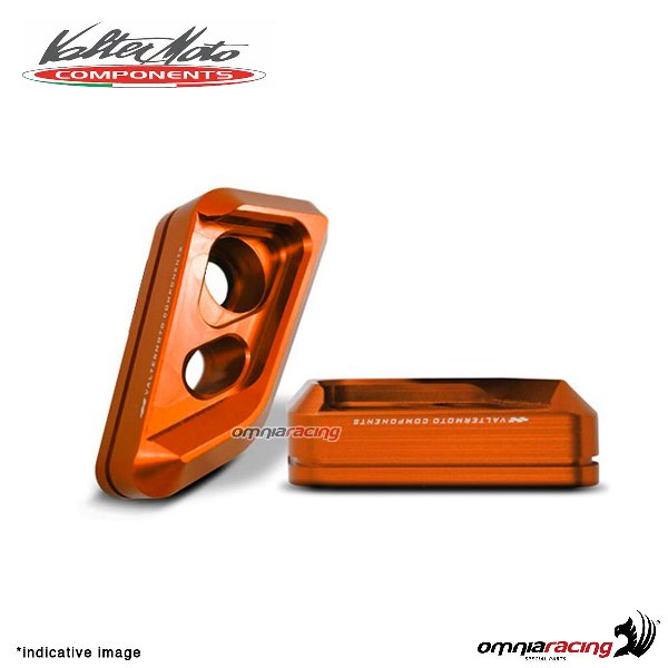 Valtermoto frame orange protectors VISUAL + adapters kit for Honda Hornet 600 2010>2013