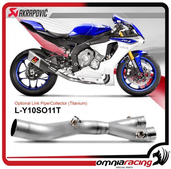 Optional Racing No Kat Link Pipe Akrapovic For SY10SO11 HAP Yamaha YZF R1 R1M