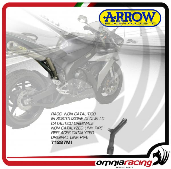 Arrow Non Catalyzed Central Link Pipe stainless steel for Yamaha YZF R1  2004>2006