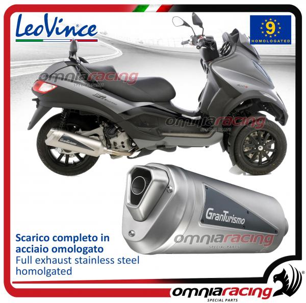 Leovince Granturismo steel exhaust for Piaggio MP3 400 LT/RST 2007>2012